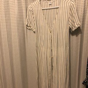Old Navy Striped Button Dress